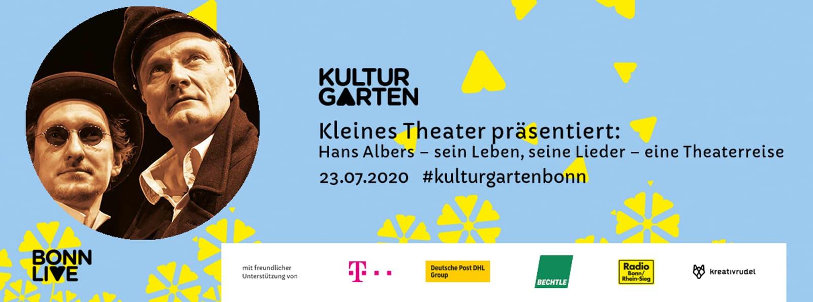 Hans Albers – sein Leben, seine Lieder – eine Theaterreise   BonnLive Kulturgarten