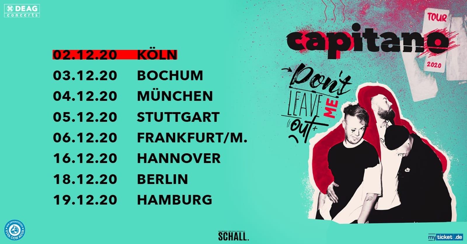 CAPITANO – DON'T LEAVE ME OUT – Köln