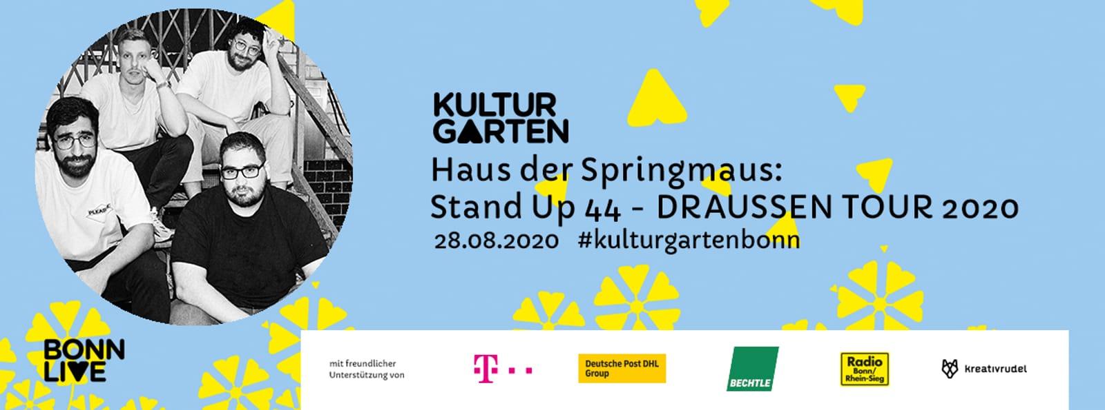 Stand up 44 - DRAUSSEN TOUR 2020  | BonnLive Kulturgarten