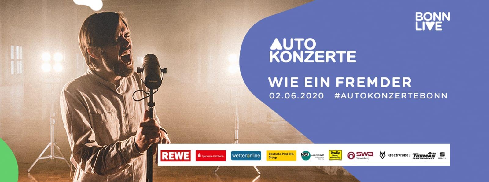 Wie ein Fremder (Premiere) & Live-Musik von SCHWARZ & Gästen  | BonnLive Autokonzerte
