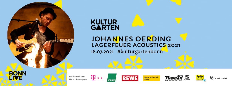 JOHANNES OERDING – LAGERFEUER  ACOUSTICS 2021 | BonnLive Kulturgarten