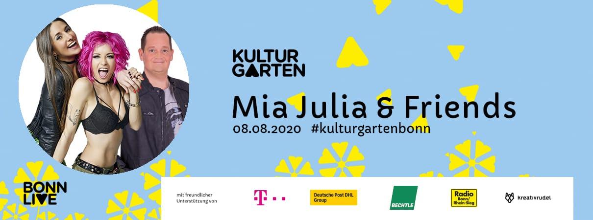 Mia Julia, Frenzy, Sabbotage & Schokkverliebt | BonnLive Kulturgarten