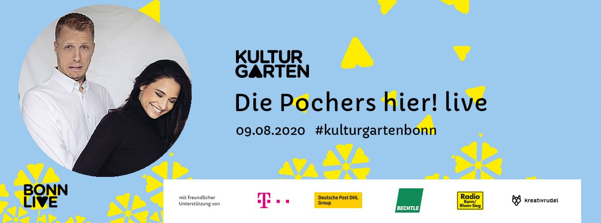 Die Pochers hier! live   BonnLive Kulturgarten