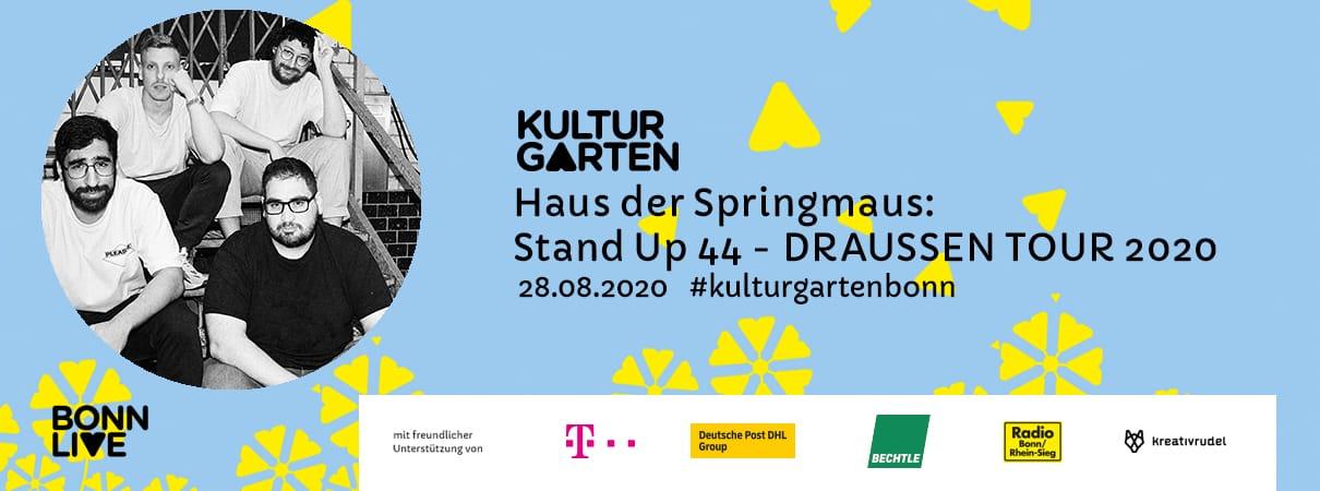 Stand up 44 - DRAUSSEN TOUR 2020    BonnLive Kulturgarten