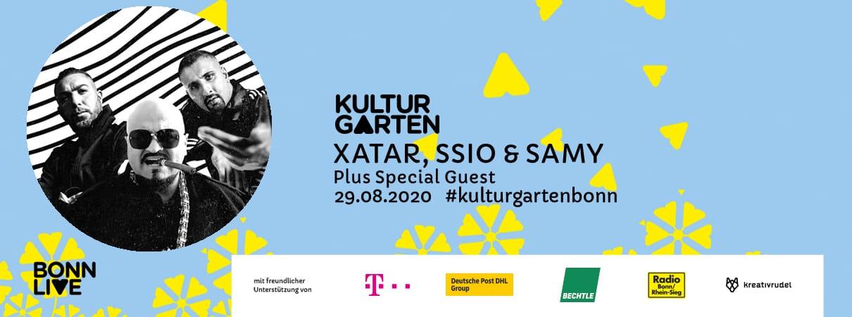 XATAR, SSIO & SAMY | BonnLive Kulturgarten
