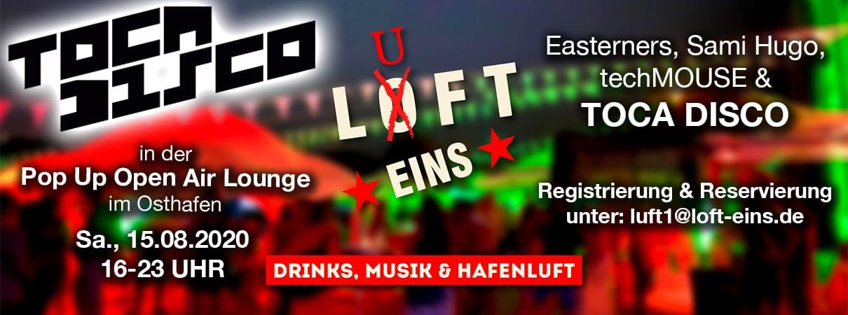 Luft 1 Pop Up Open Air Lounge im Osthafen - Drinks, Musik & Hafenluft