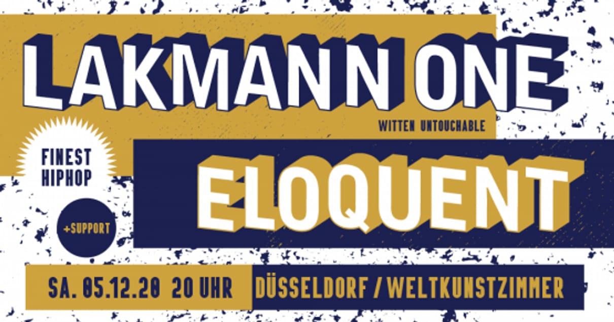 LAKMANN ONE & ELOQUENT & BECKERRAP -> Neuer Termin 05.12.2020!